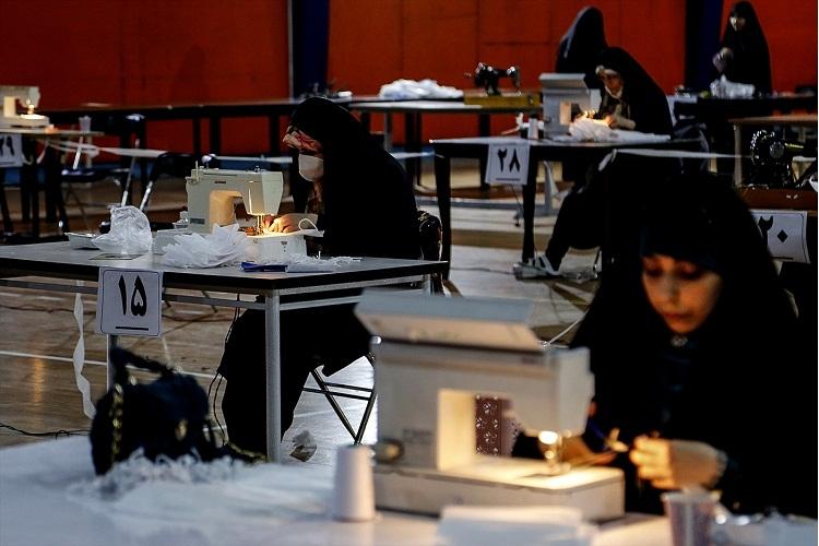 تولید روزانه ۱۴ هزار ماسک توسط موکب سیدالشهدا در تبریز
